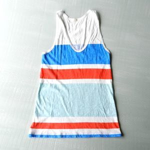 J. Crew Factory Multistripe Cotton Tank Sz XS
